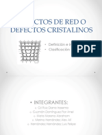 Defectos de Red o Defectos Cristalinos Autog