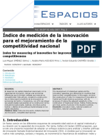 Index for Measuring of Innovation for Improvement of National Competitiveness