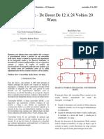 Convertidor Dc -Dc Boost de 12 a 24 Volt