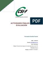 Actividades Finales de Evaluación Fernando Sevilla