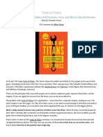 Tools of Titans PDF Summary From Allencheng.com