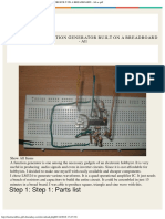 The Simplest Function Generator Built on a Breadboard - All as PDF