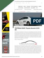 Testirali Smo_ Toyota Avensis 2