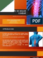 Sindrome de Dolor Lumbar