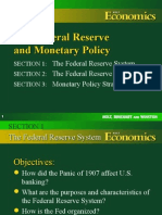 The Federal Reserve System & Monetary Policy