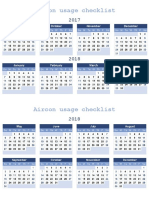 Mini Calendar 2017-2018