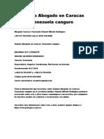 Sianuro Abogado en Caracas Venezuela Canguro