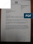 1. Letter From PW Botha to Goh Keng Swee