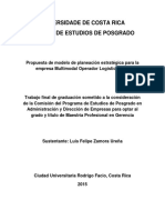 Modelo de Planeación Estratégica Para La Empresa Multimodal