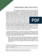 Pressupostos Epistemologia e Logica - Grilo Na Cuca
