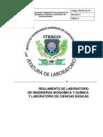 Reglamento de Laboratorio 2016