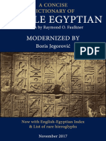Modernized a Concise Dictionary of Middle Egyptian