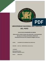 Informe de La Visita Al Centro de Extraccuion y Procesamiento Del Yeso en Roncha