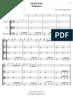 Aleluia - Quarteto de Cordas - Grade