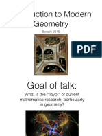 Introduction to Modern Geometry