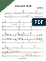 Breaking Free - High School Musical - Sheet Music