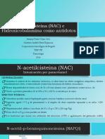 Nac e Hidroxicobalamina