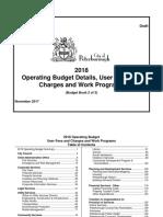 Book 2 2018 Draft Operating Budget Book