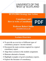 Consultancy and How to Write a Consultancy Report