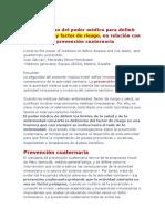 Gervas Juan Enfermedad y Factor de Riesgo