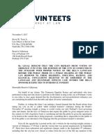 Letter to Portland Concerning November 6th Agenda and Zoning Ordinance