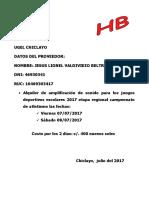 Datos Del Proveedor