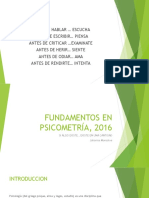 Fundamentos en Psicometría, 2016