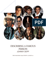 Describing a Famous Person 2017- Johnny Deep