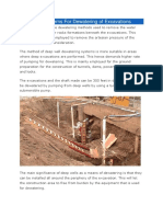 Deep Well Systems for Dewatering of Excavations