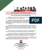 Secretario General del MIR - Ante los dichos del Diputado Fernando Meza - 06 de Noviembre de 2017