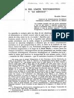 XIRAU, R., Presencia del limite. Wittgenstein y lo mistico, Dianoia 28, 1982 (Art).pdf