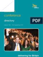 Lib Dem Autumn 2010 Conference - Directory Book