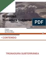 III UNIDAD Tronadura Subterránea