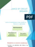 Circuit Breaker Maintenance