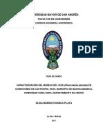 Huanca. 2011. Caracterización Del Manejo Del Suri (Pterocnemia Pennata) en Condiciones de Cautiverio, En El Municipio de Machacamarca, Comunidad Sora-Sora, Departamento de Oruro. Tesis.