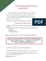 Admision Nivelacion UNET(Modelo de examen)  resuelto paso a paso