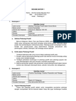 Resume Materi 1 Definisi Psikologi Positif