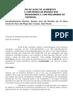 10.2 Contestação de Ação de Alimentos Gravídicos Com Pedido de Revisão Dos