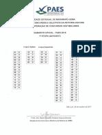 Gabarito Oficial PAES 2018