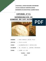 Informe 1 Determinacion de Humedad de Alimentos - Copia