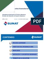 1 Nuevo Procedimiento de Restitución de Derechos Arancelarios - Drawback Web -SUNAT1