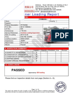 Container Loading Report