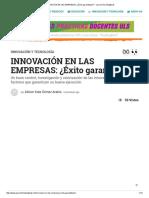 INNOVACIÓN en LAS EMPRESAS_ ¿Éxito Garantizado_ - Journal FeedingBack