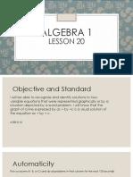 algebra 1 lesson 20 ppt