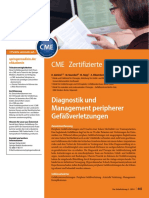 Diagnosis and Management of Peripheral Vascular Injuries, Unfallchirurg