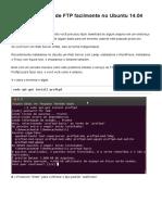 Criando Servidor de FTP Facilmente No Ubuntu 14