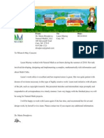 Natural Math Recommendation Letter Laura Murray