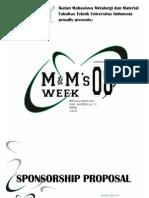Proposal Sponsorship Metallurgical and Material's Week 2008