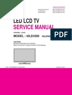 Led Lcd Tv: Service Manual
