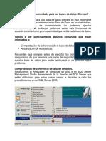 Mantenimiento Recomendado Para Las Bases de Datos Microsoft SQL Server Tema 4
